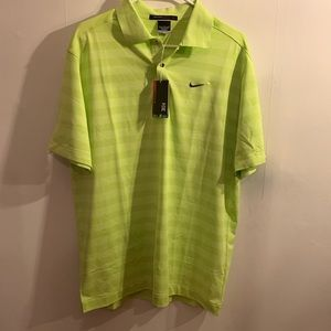 Nike Dri Fit Tiger Woods Golf Collection Polo NEW